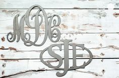 The fanciest way to sign your name is a monogram. Just ask Martha Stewart's towels. Initial Here and Here - Metal Monograms for 69% Off! #monograms #metalmonograms