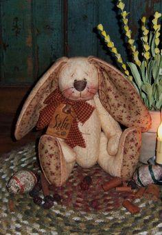 Patti\'s Ratties Primitive Bunny Rabbit Doll Pattern PM301 $0.00