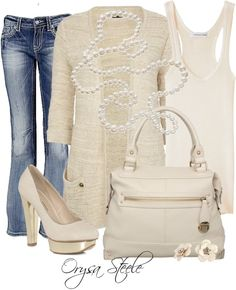 Casual Creme, created by orysa on Polyvore