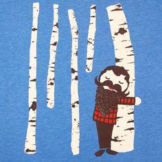 Tree Hugger  Unisex Mens Tshirt Birch by GnomEnterprises on Etsy, $25.00