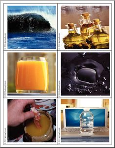 Photo flashcards: Liquids and Solids