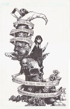 """""""Death"""" is her name, from the """"Sandman"""" comic by Neil Gaiman. Love that comic."""