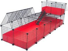 Guinea Pig Cage: Jumbo with Narrow Loft, COVERED - Deluxe Covered Cages - C Cages for Guinea Pigs