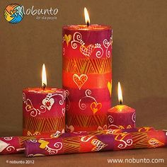 hand-painted candles from South Africa | www.nobunto.com