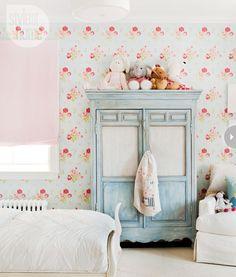 vintage inspired girls bedroom