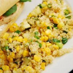 Quinoa, Zucchini And Corn In Lemon Butter