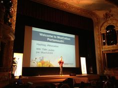 Rand Fishkin on stage. Photo by Crystal Paradis
