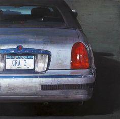 "François Bard, Parking, 2013, Oil on Canvas, 51"" x 51"" #Art #Contemporary #Painting #BDG #BDGNY #Car"