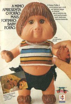 Boneco Baby Fofão Mimo (1989). Tá certo que o Fofão foi um personagem infantil bem marcante dos anos 80, mas ele era um personagem meio assustador estilo Bozo. De qualquer forma, é preciso admitir que o Fofão fazia sucesso naqueles tempos.