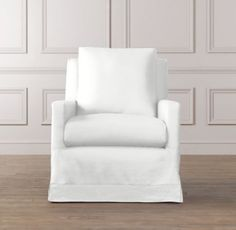 """Tailored Track Arm Swivel Glider with Slipcover   Nursery Seating (comes with a pink band at the bottom of the glider) 29""""W x 38""""D x 35""""H $1199"""
