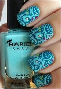 "Beautiful nail polish.. Wish I could have that.. But then I think ""holy crap who has time for that?!"""