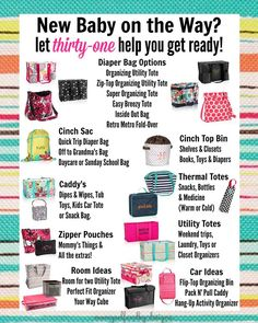 New Baby on the Way? Let thirty-one help you get ready! www.mythirtyone.com/kbtotes