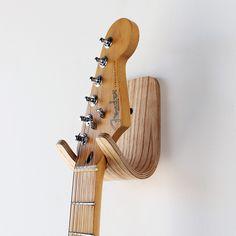 wood guitar gook by One Forty Three interior design, design bedroom, guitar hook, hooks, architecture interiors, wood guitar, pretti guitar, architectur interior, guitars