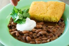 Beans & Cornbread from the Pioneer Woman
