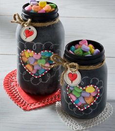 This would be cute to use chalkboard spray paint on a mason jar and collect money in it for a trip or something. We could write on it in chalk the goal we have :)