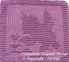 Knitting Cloth Pattern  CURIOUS KITTY  Instant by ezcareknits, $3.00