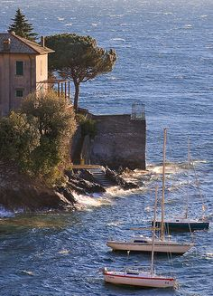 Moored Boats, Varenna, Lake Como