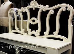 Bench made from old headboard