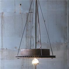 Recycled car rotors as a fixture. Nice idea.