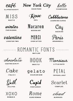 25 FREE romantic #fonts