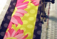 DIY dish towel with fabric border