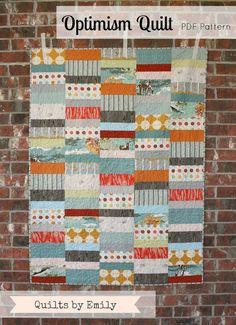 Optimism - Modern Quilt Pattern - INSTANT DOWNLOAD
