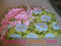 SneakyFoxeh: Cuddly Adult Fleece Blanket - No Sewing Required!