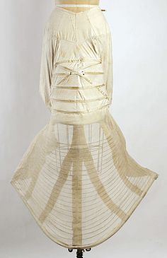 Bustle, ca. 1870s.    From the Metropolitan Museum of Art.