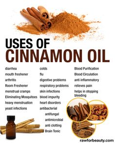 Uses of cinnamon oil