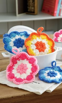 Flower hot pads