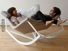 Rocking chair for two - but for real, I want this.