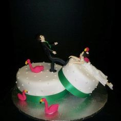 Love this Divorce Cake. My friend made it:)