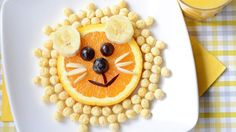 This lovely lion snack is a delicious, kid-approved snack in my house.  Made with some of their favorite fruits and their favorite Kix cereal, it's no wonder they gobbled it up quicker than you can say, ROAR! See the full post on Kix.