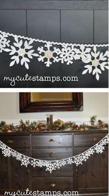 Studio 5 - Winter Wonderland Felt Snowflake Banner