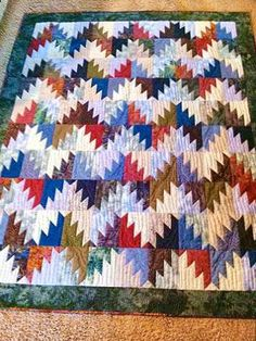 Scrappy Mountain Majesties Quilt.  Delectable Mountains Quilt Block.  Peace, Robert from nancysfabrics.com