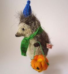 Hand Made British Wool Needle felted Halloween by MissBumbles