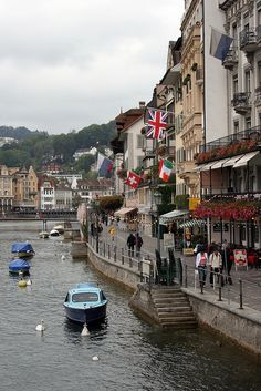 Lucerne,Switzerland. One of the most beautiful small cities I ever been to.