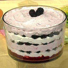 Easy dessert. Blackberry Fool Now if I had a triffle bowl