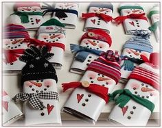 snowman candybar wrappers holiday, craft, chocolate bars, gift ideas, candy bar wrappers, candi, snowman, candy wrappers, christmas gifts