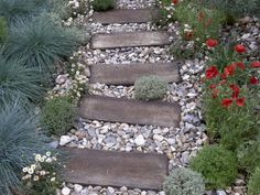 garden landscaping ideas, outdoor pathway, landscaping pathways, backyard pathway, garden paths, side yards, landscape ideas walkways, railroad ties, stepping stones