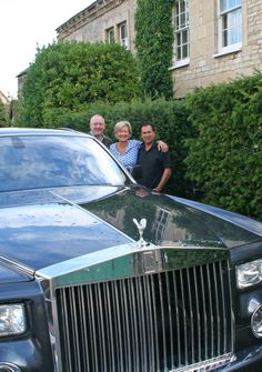 Lovely Guests,lovely cars,Chris Julia and me at Oak House No.1