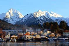 Sitka, Alaska waterfront.  I don't know if the Oosterdam will allow us this view, but I do hope it does!