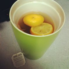 lexi0804 #goodearthtea : citrus kiss ; added some lemon & agave. So delish! Trying to fight this cold ;(