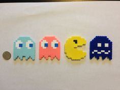 Pacman Magnet Perler Beads Set
