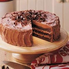 Triple Layer Brownie Cake