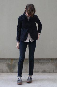 #dark blazer jacket  Leather Legging #2dayslook #LeatherLegging #fashion #new  www.2dayslook.com