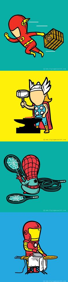 Super heroes and their part time jobs…