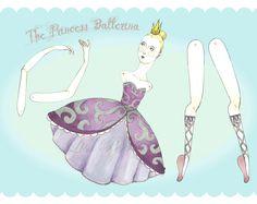 Lisa Perrin: Ballerina Paper Dolls (in progress)