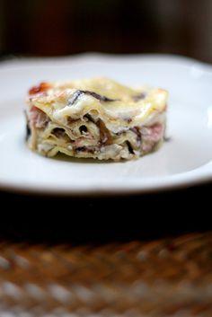 Lasagne radicchio e prosciutto
