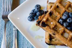 blueberry waffles #vegan